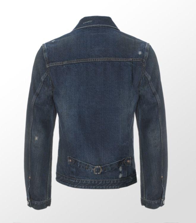 Lyst - Evisu Denim Jacket in Blue for Men