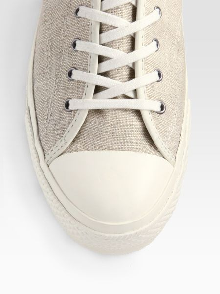Linen Oxford Shoes Taylor Linen Oxfords/white