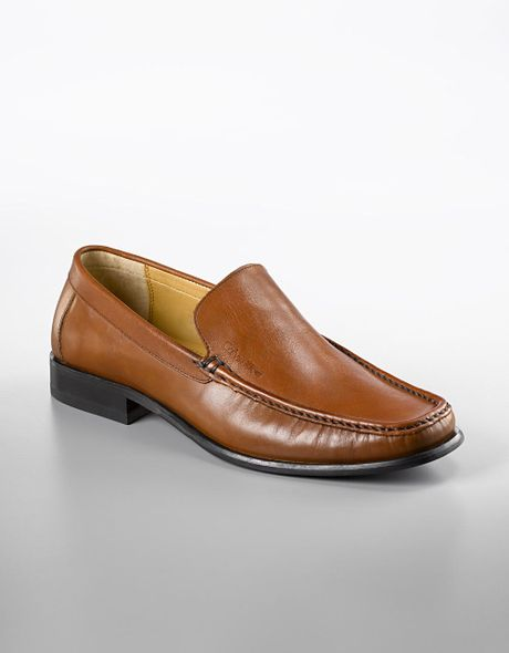 Calvin Klein Finley Leather Slip On Shoes