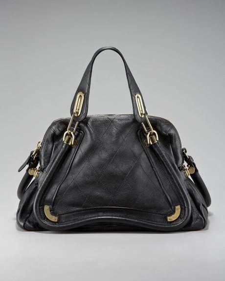 Chloé Paraty - Medium Calfskin Leather Satchel in Brown (rock  brown))