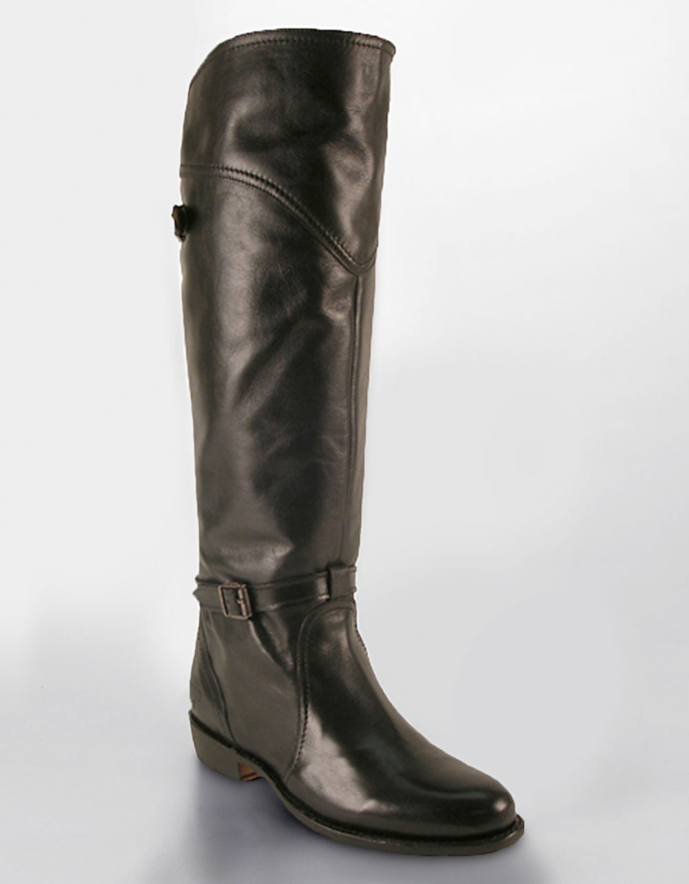 frye dorado leather boots in brown black leather lyst