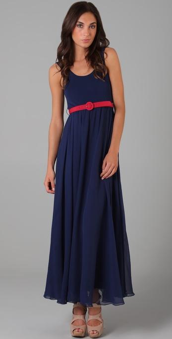 Alice   olivia Laken Long Tank Dress in Blue  Lyst