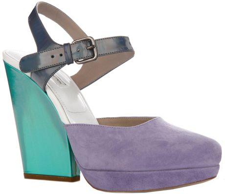 Dries Van Noten Platform Shoe in Multicolor (green