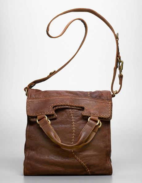 Lucky Brand Abbey Road Leather Cross Body Bag In Brown