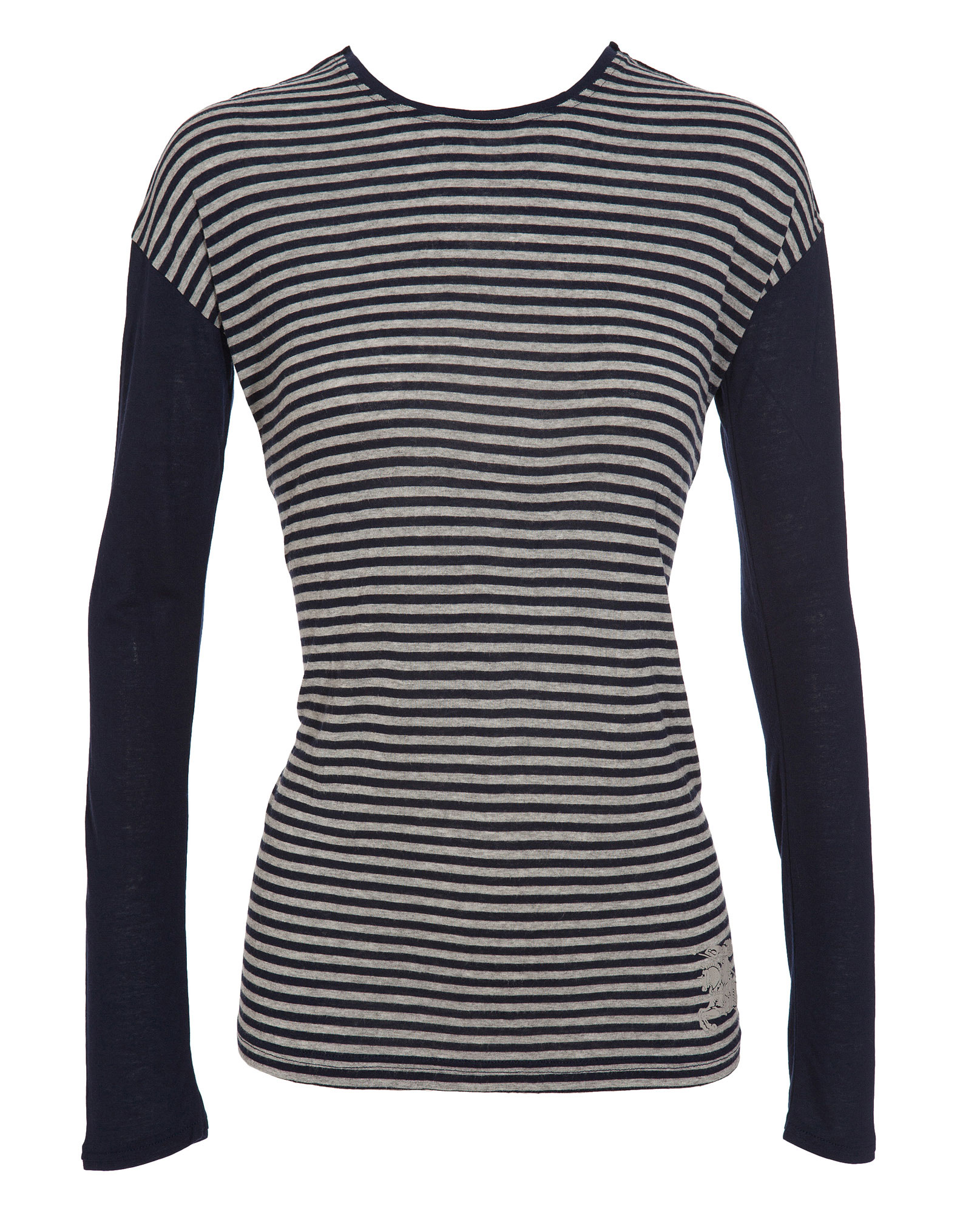 burberry brit breton stripe t shirt in blue navy lyst. Black Bedroom Furniture Sets. Home Design Ideas