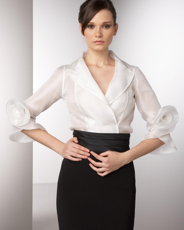 White Silk Blouse Long Sleeve