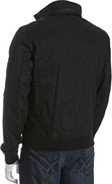 Ermenegildo Zegna Black Cotton Stowaway Hood Bomber Jacket