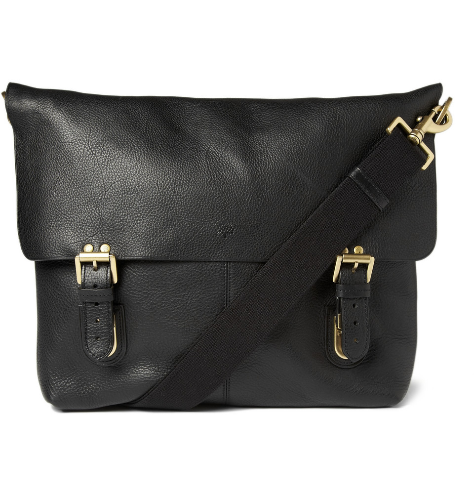 Lyst - Mulberry Barnaby Leather Messenger Bag In Black For Men