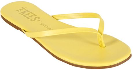 Tkees Polishes Sandal  in Yellow