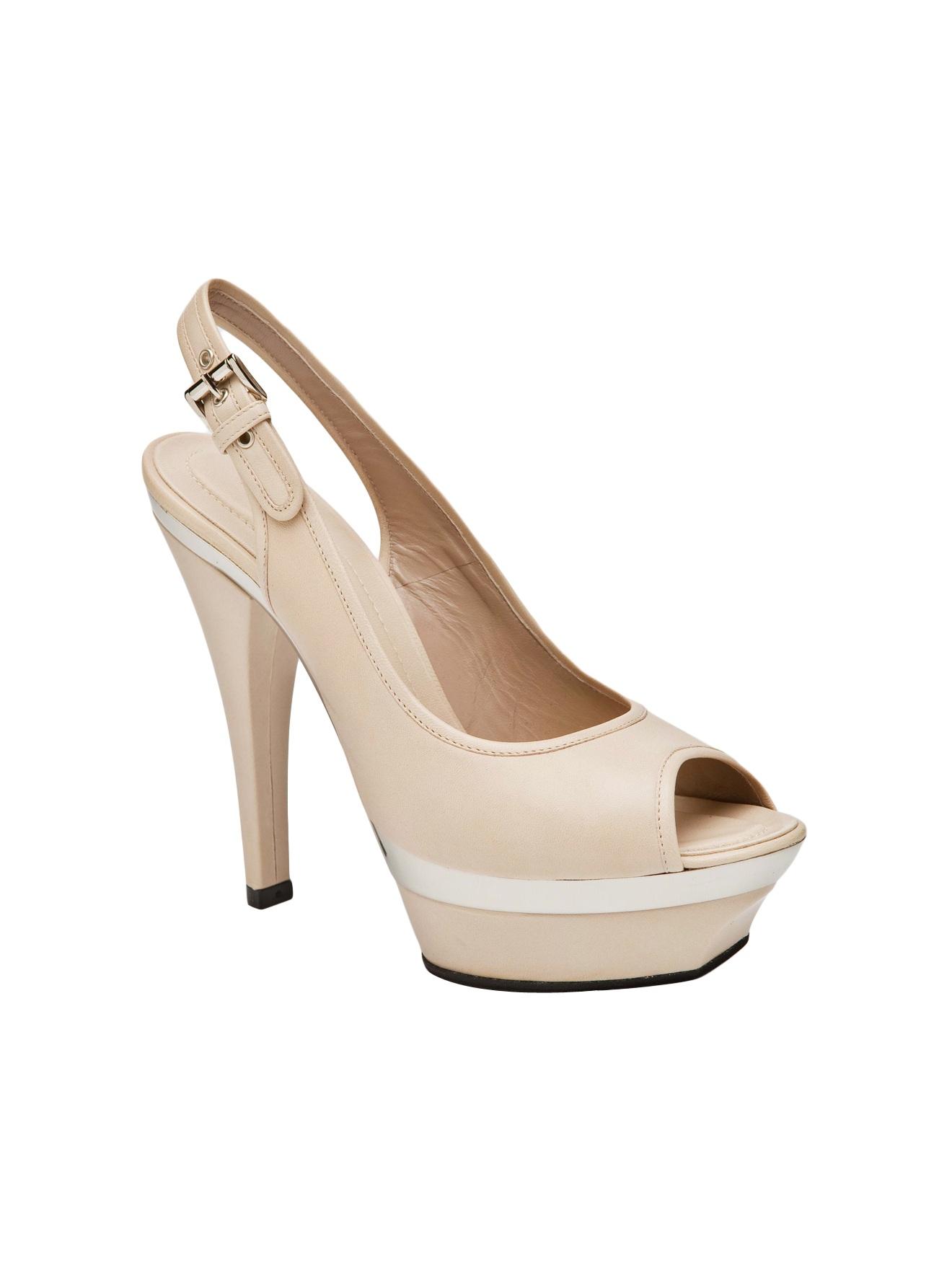 barbara bui high heel slingbacks in beige cream lyst. Black Bedroom Furniture Sets. Home Design Ideas