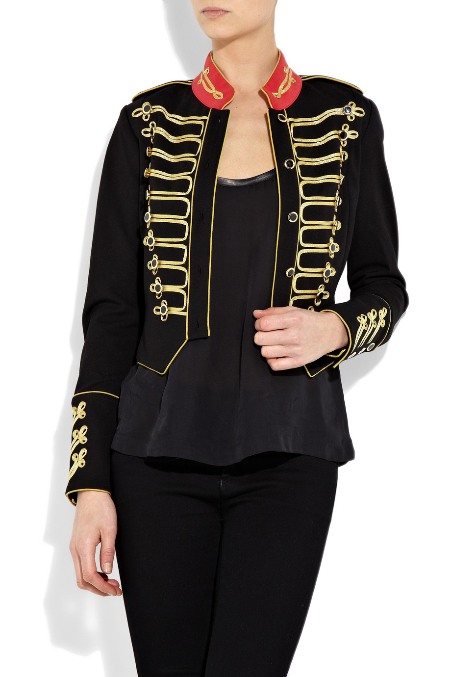 Alice By Temperley Game Structured Jersey Military Jacket