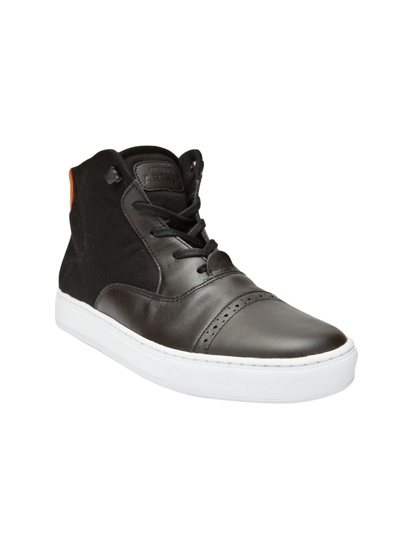 ateliers arthur mid top sneakers in black for lyst