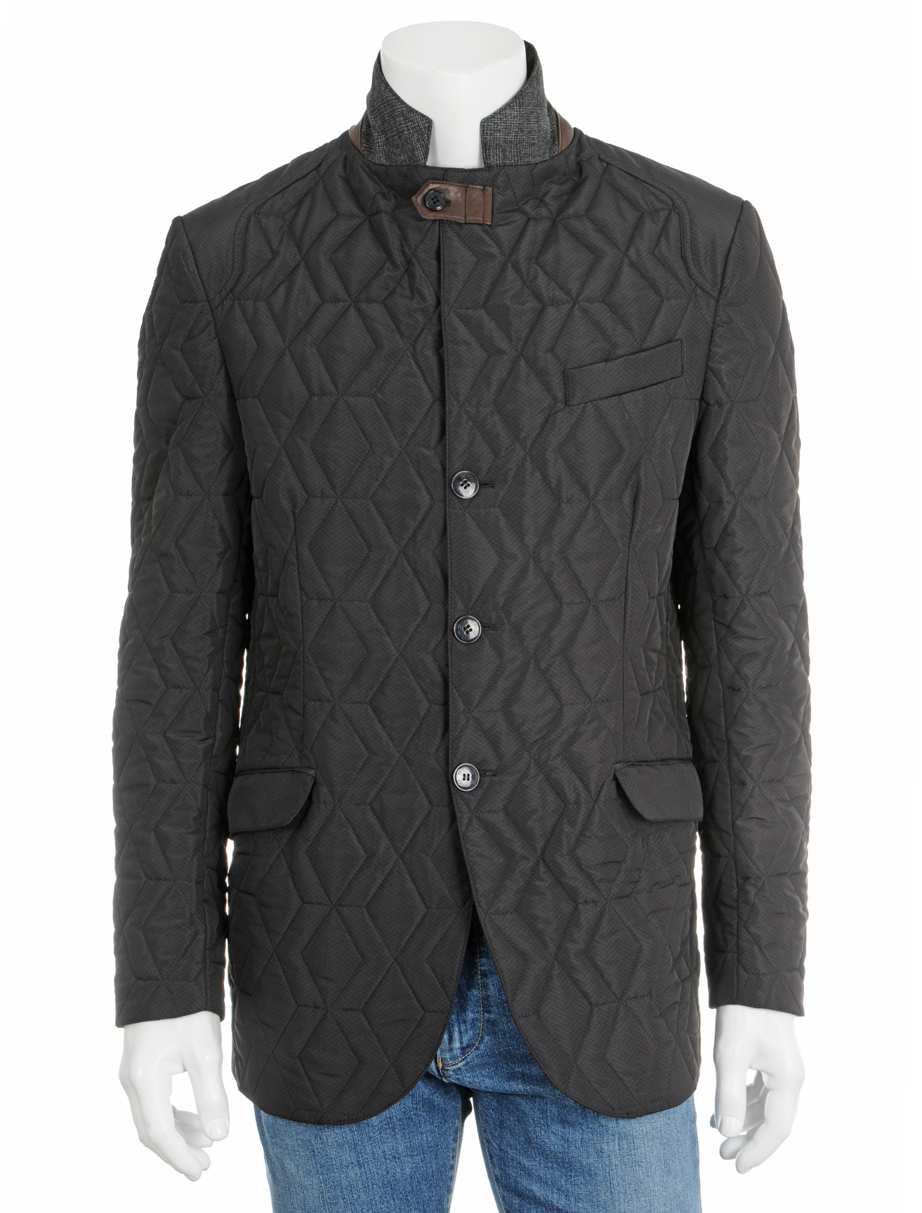 Etro Quilted Jacket In Brown For Men Navy Lyst