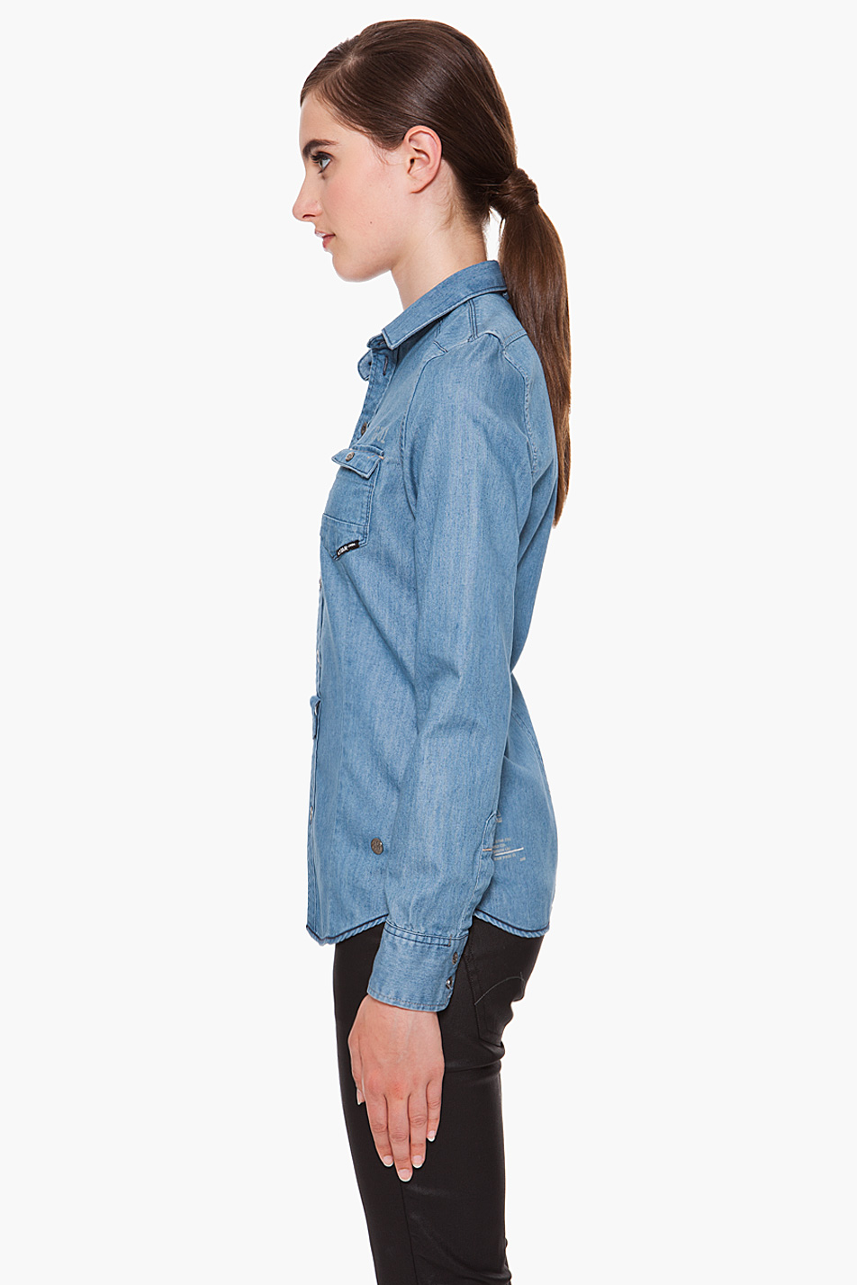 g star raw new western shirt in blue lyst. Black Bedroom Furniture Sets. Home Design Ideas