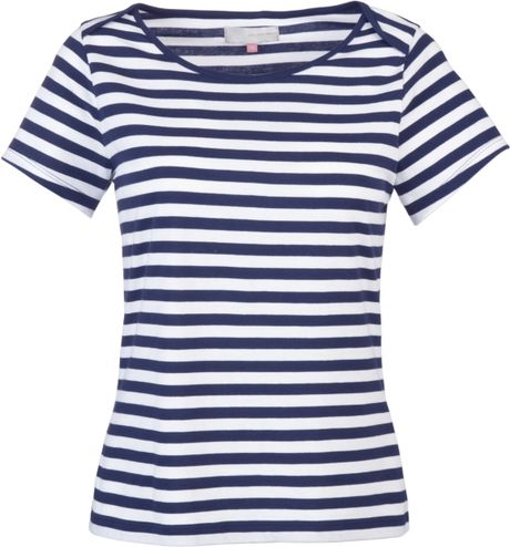 john lewis women striped t shirt navy in blue navy lyst