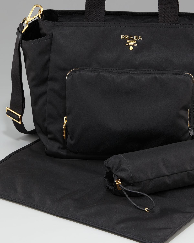 41baf6f78d11 Prada Nylon Baby Bag in Black - Lyst