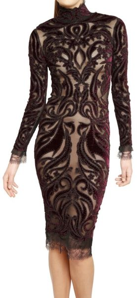 Emilio Pucci Embroidered Velvet Patch On Tulle Dress - Lyst