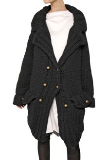 Nina Ricci Oversized Wool Knit Coat - Lyst