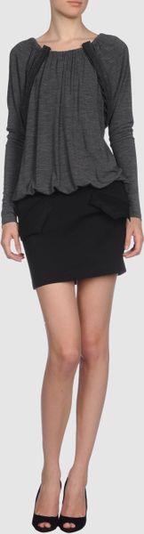 Vera Wang Short Dress In Gray Grey Lyst