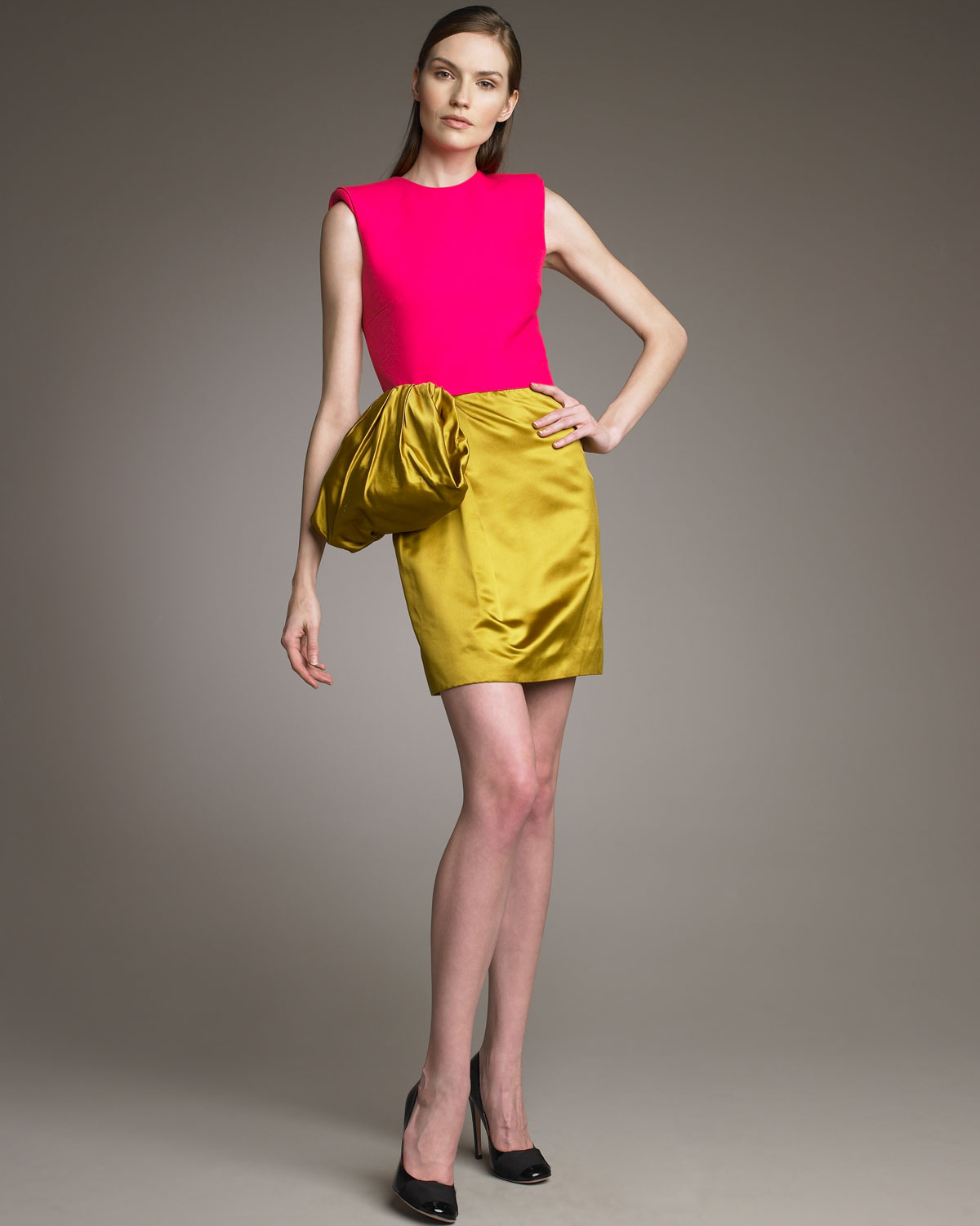 Color block evening dress