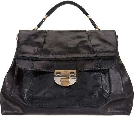 Nina Ricci Liane Top Handle Bag in Black