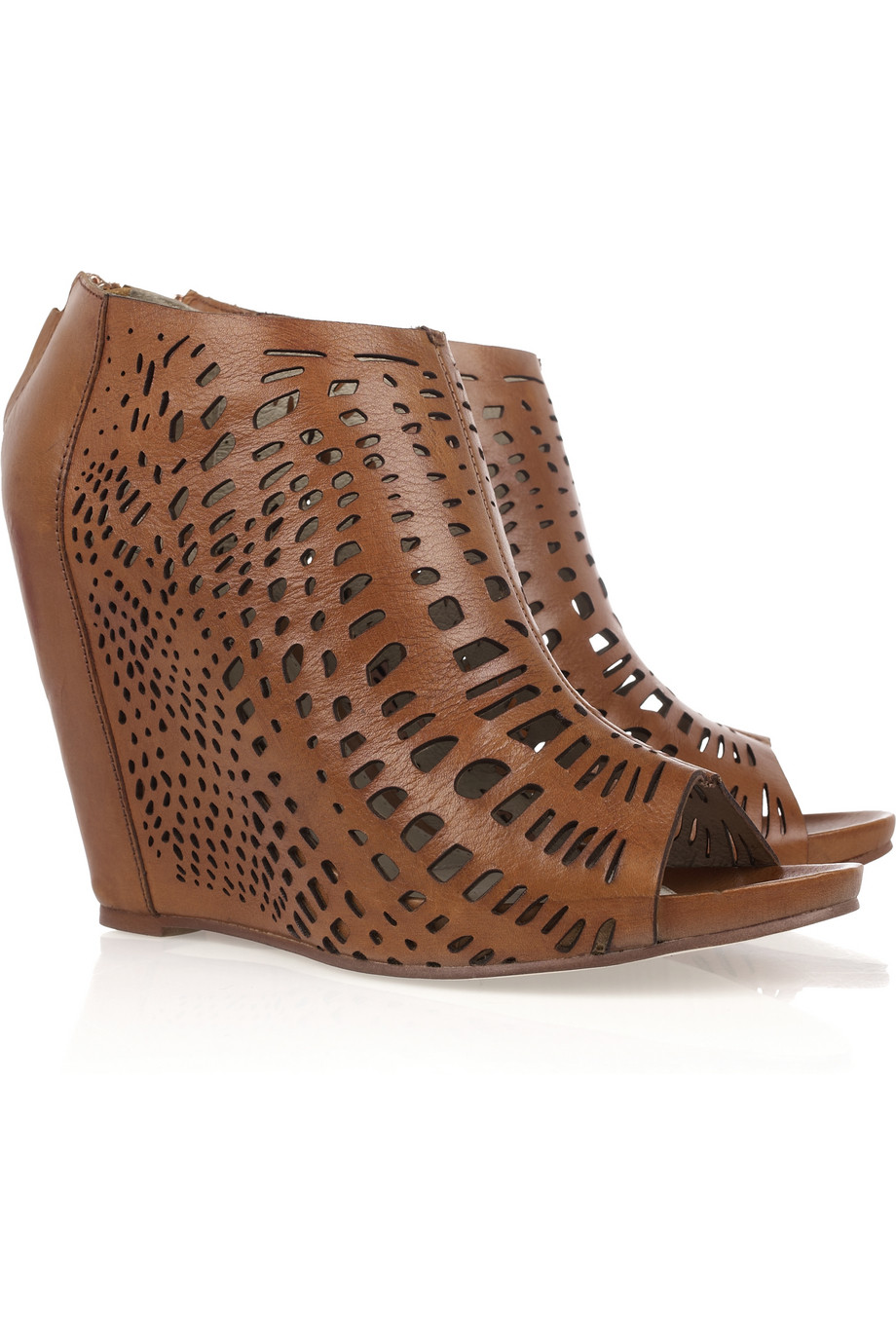 Brown Leather Court Shoes