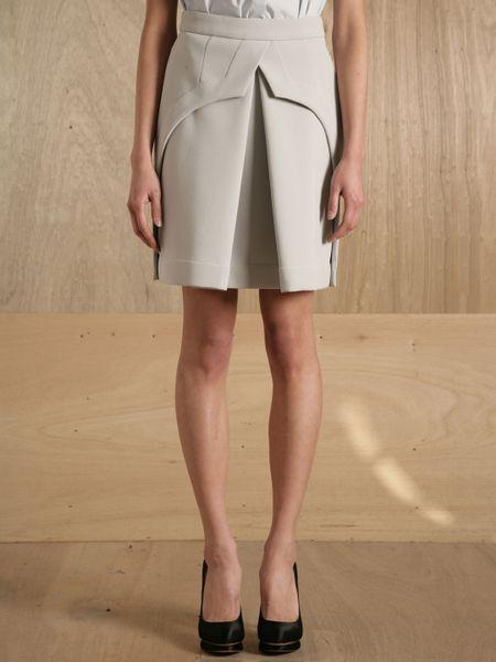 Preen By Thornton Bregazzi Womens Quail Skirt in White (pearl)