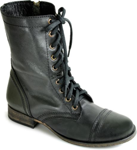 black steve madden troopa boots leather sandals
