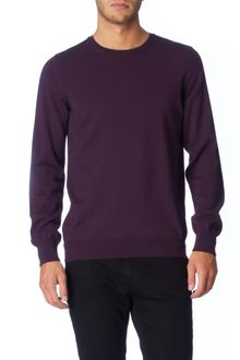 Burberry Brit Juniper Purple Merino Shoulder Check Crew Knit - Lyst