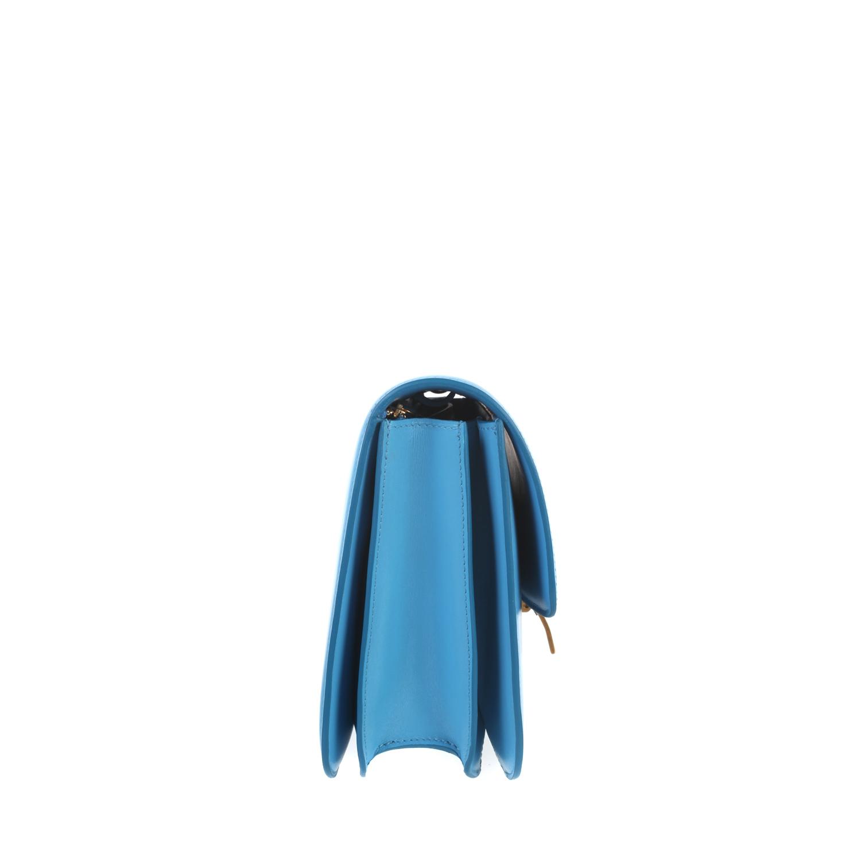 C¨¦line Classic Medium Flap Bag in Box Leather in Blue (lagoon)   Lyst