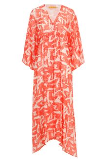 Kimono Dress on Winter Kate Kimono Dress In Orange  Red    Lyst