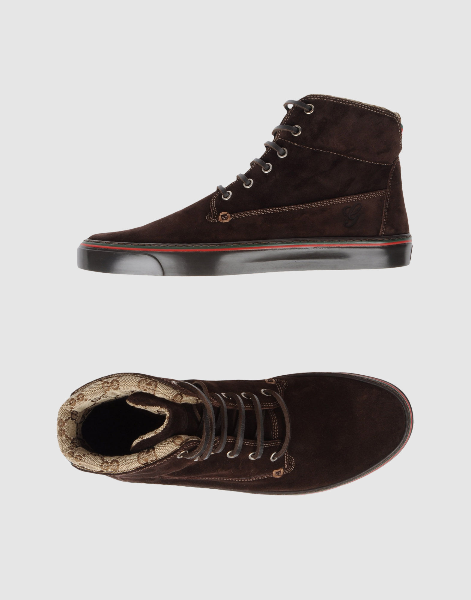 gucci high top sneaker in brown for men cocoa lyst. Black Bedroom Furniture Sets. Home Design Ideas