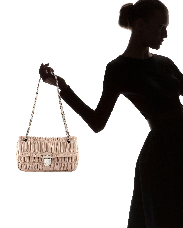 black chain prada bag