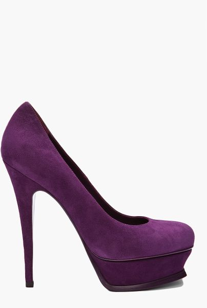 Yves Saint Laurent Tribute Pumps in Purple - Lyst