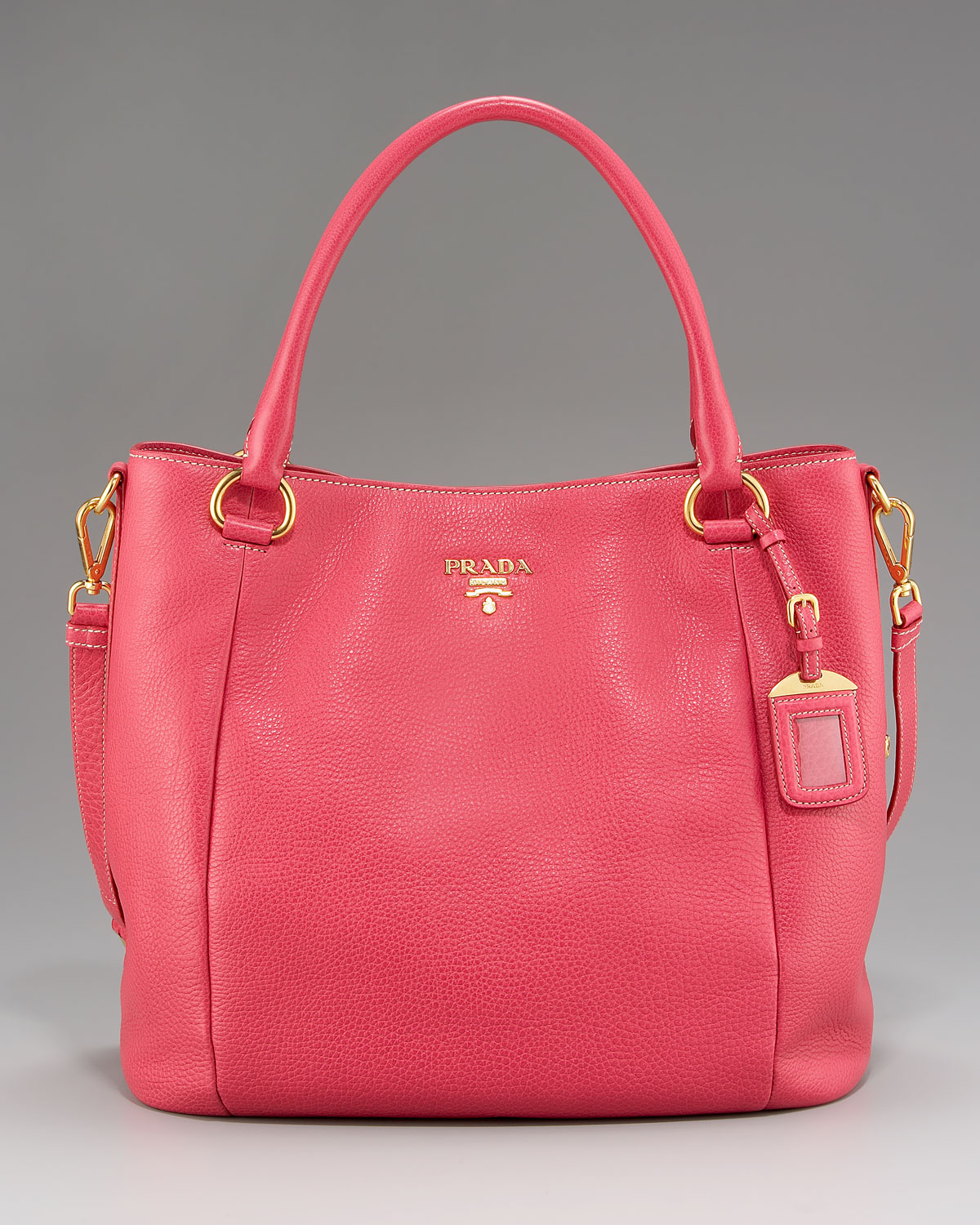Prada Vitello Daino Satchel in Pink | Lyst