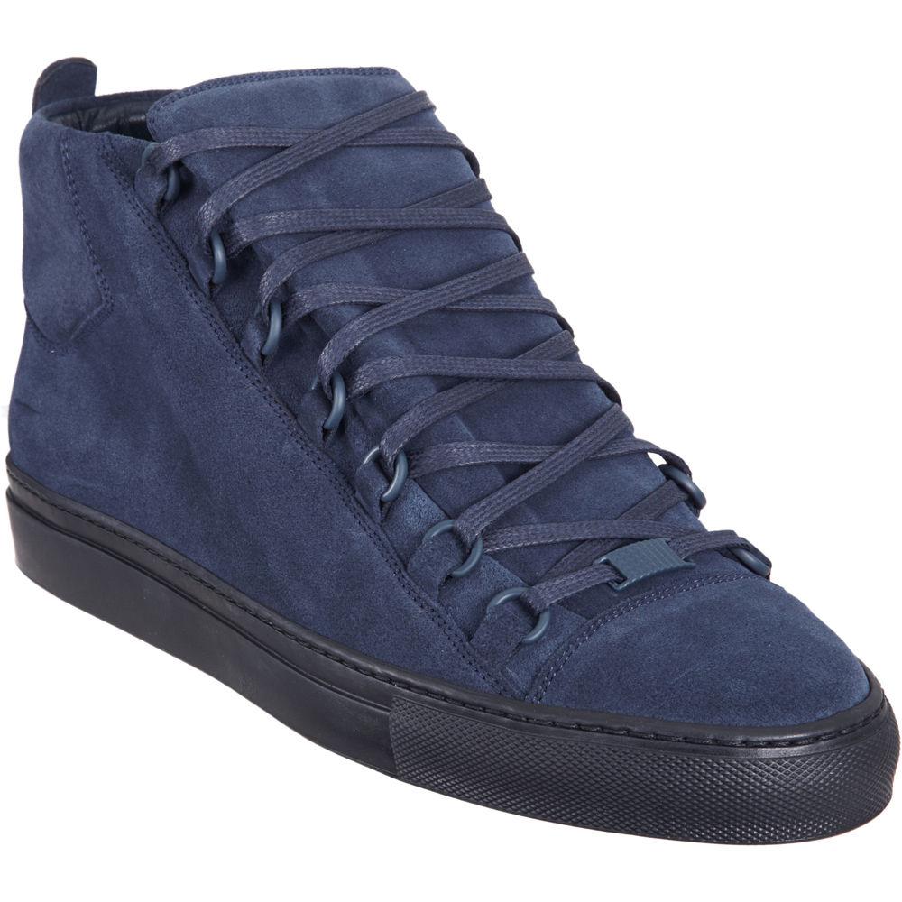 balenciaga arena hightop sneaker in blue for men navy lyst. Black Bedroom Furniture Sets. Home Design Ideas