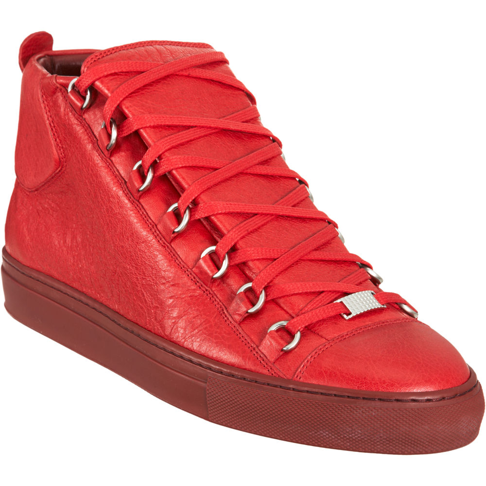 balenciaga arena hightop sneaker in red for men lyst. Black Bedroom Furniture Sets. Home Design Ideas