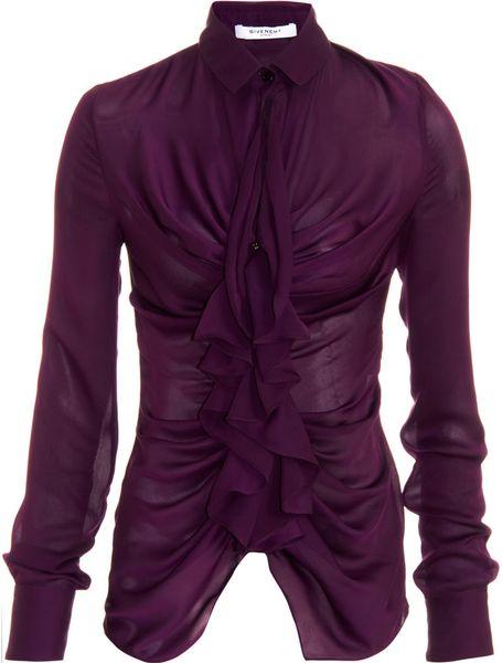 Ruffle Purple Blouse 32