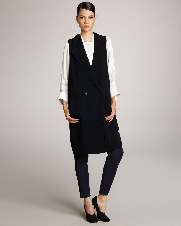 Stella mccartney Sleeveless Coat Dress in Black | Lyst