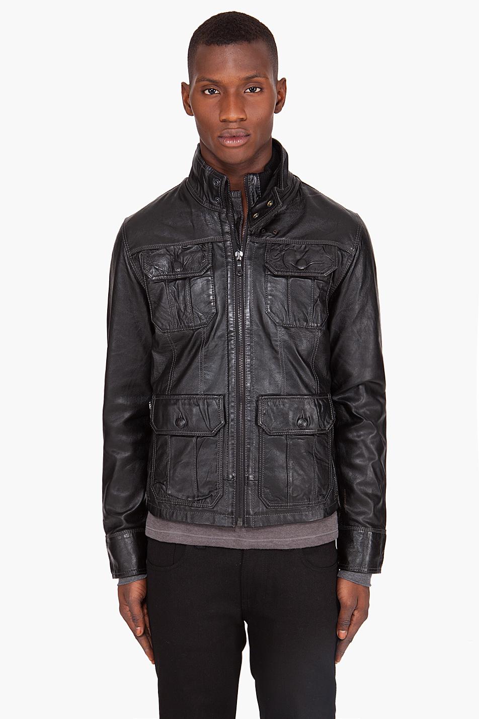 g star raw dryden leather jacket in black for men lyst. Black Bedroom Furniture Sets. Home Design Ideas