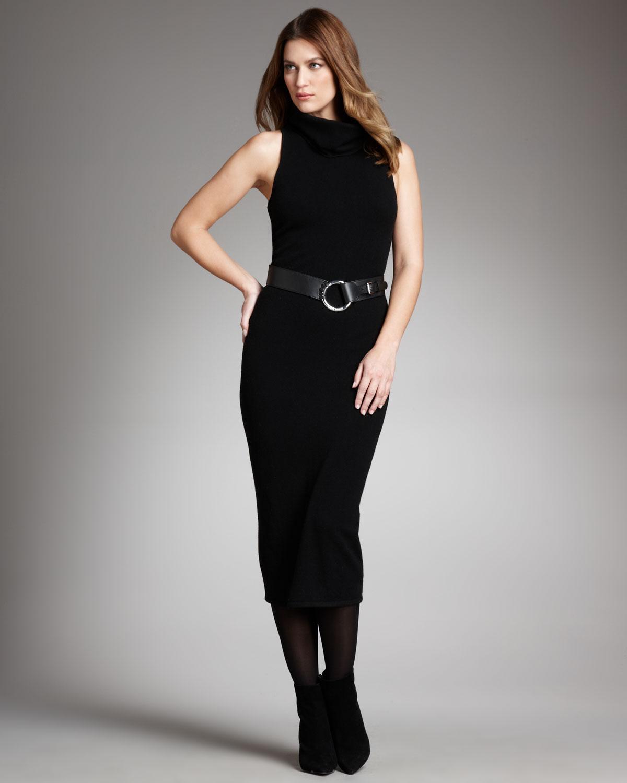 ralph lauren black label cashmere turtleneck dress in
