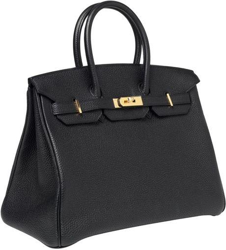 Hermès 35cm Birkin Black Togo With Ghw in Black