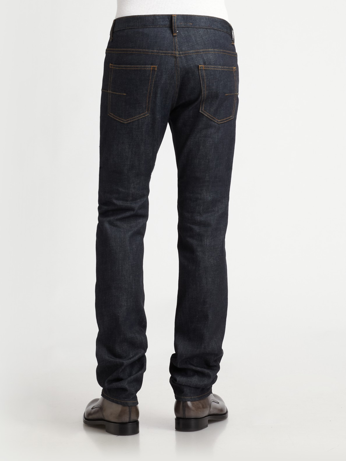 dior homme straight leg jeans in blue for men lyst. Black Bedroom Furniture Sets. Home Design Ideas