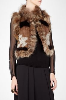 Elizabeth And James Elizabeth Fur Knit Vest Jacket - Lyst