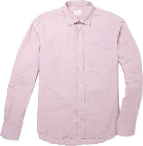 Hartford contrast collar and cuff shirt in purple for men for Mens dress shirts with contrasting collars and cuffs