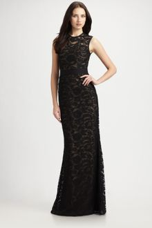 Ml Monique Lhuillier Lace Gown - Lyst