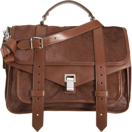 Proenza Schouler Ps1 Large Pony in Brown (chocolate)