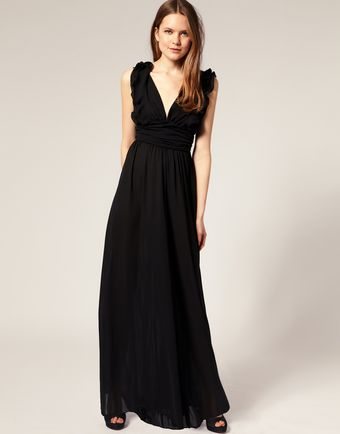 ASOS Collection Asos Ruffle Shoulder Wide Leg Jumpsuit - Lyst