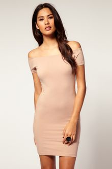 ASOS Collection Asos Bodycon Dress with Off Shoulder - Lyst