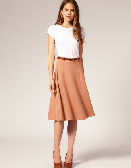 asos collection asos midi tailored belted ponti fit and
